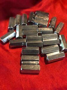Hex Rod Coupling Nuts 5//16-18 X 7//8 Threaded Rod Connectors Zinc 250