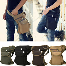 Men Outdoor Canvas Tactical MotorcycleRiding Fanny Pack Waist Thigh Drop Bag SP