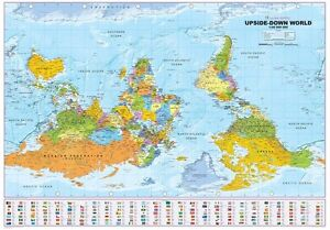 Political world atlas upside down horizontal format 39x27 58in image is loading political world atlas upside down horizontal format 39x27 gumiabroncs Image collections