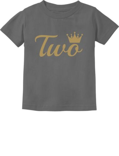 Second Birthday Gift 2 Year Old Birthday Crown Toddler Kids T-Shirt Two Year Old
