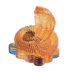 Details about Liuli Crystal Chinese Zodiac Snake Ornament Table Decorations Christmas Gifts  sc 1 st  eBay & Liuli Crystal Chinese Zodiac Snake Ornament Table Decorations ...
