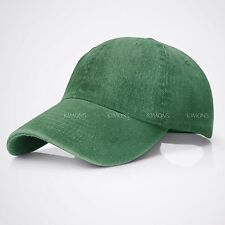 Dyed Washed Cotton New Plain Solid Polo Style Baseball Ball Cap Hat Dad