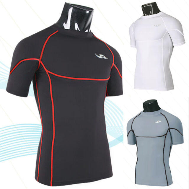 Quick-drying T-shirts round neck Men Tops short sleeve Mobile tight training W50
