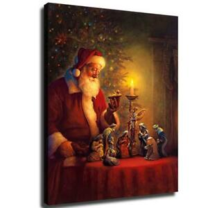 """12/""""x16/""""Santa Claus with gifts HD canvas photo home decor wall Art poster picture"""