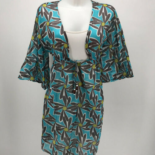 Milly Blue Print Swim Coverup Size 6