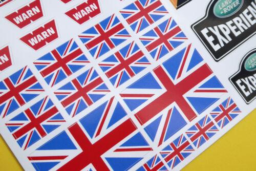 "RC Rock Crawler /""CAMEL TROPHY TEAM UK/"" 10th échelle Stickers Decals RC4WD D90"