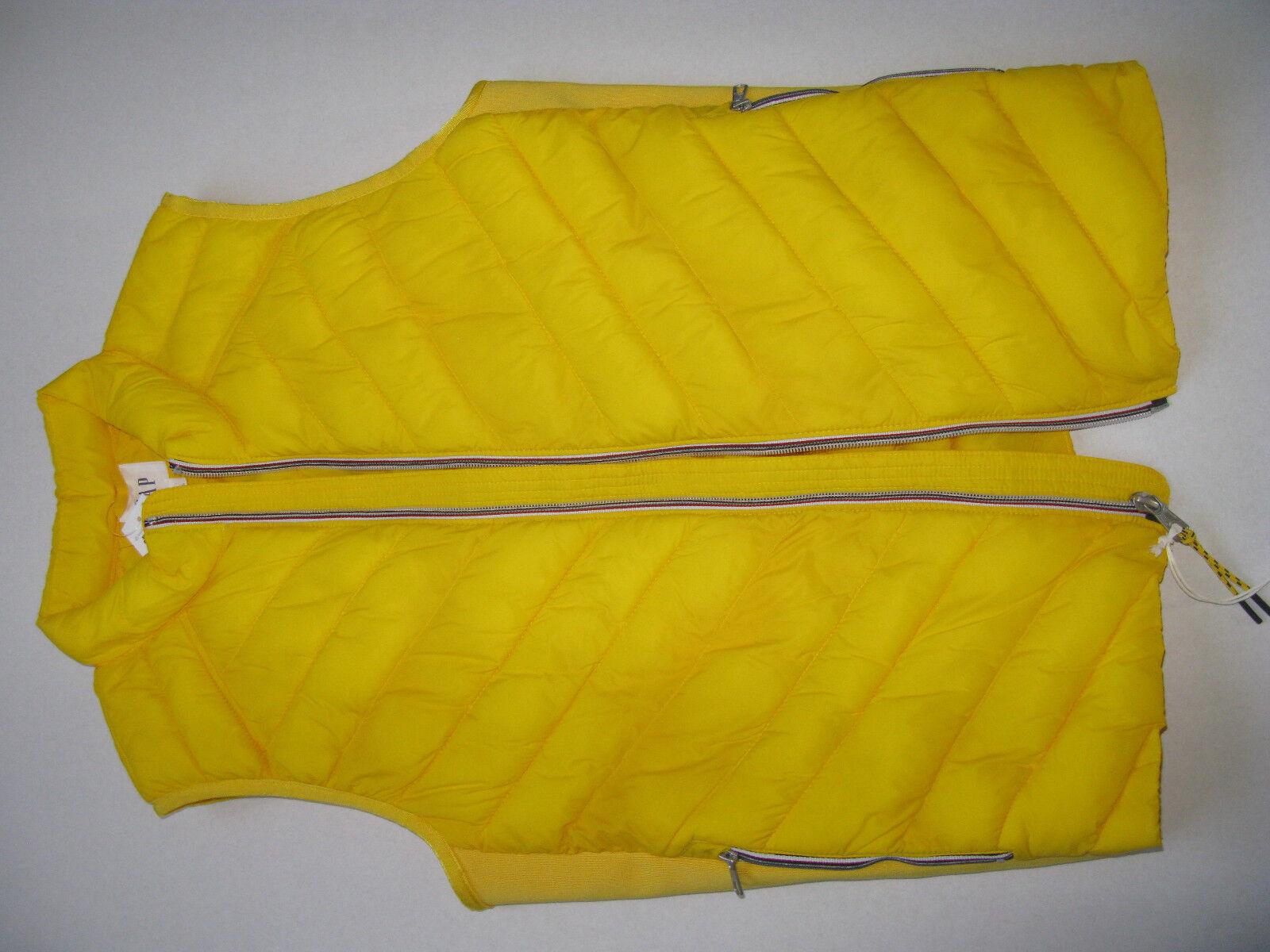 J GAP NEW warmer warm as 500 fill fill fill down fleece yellow water resistant waistcoat M 980116