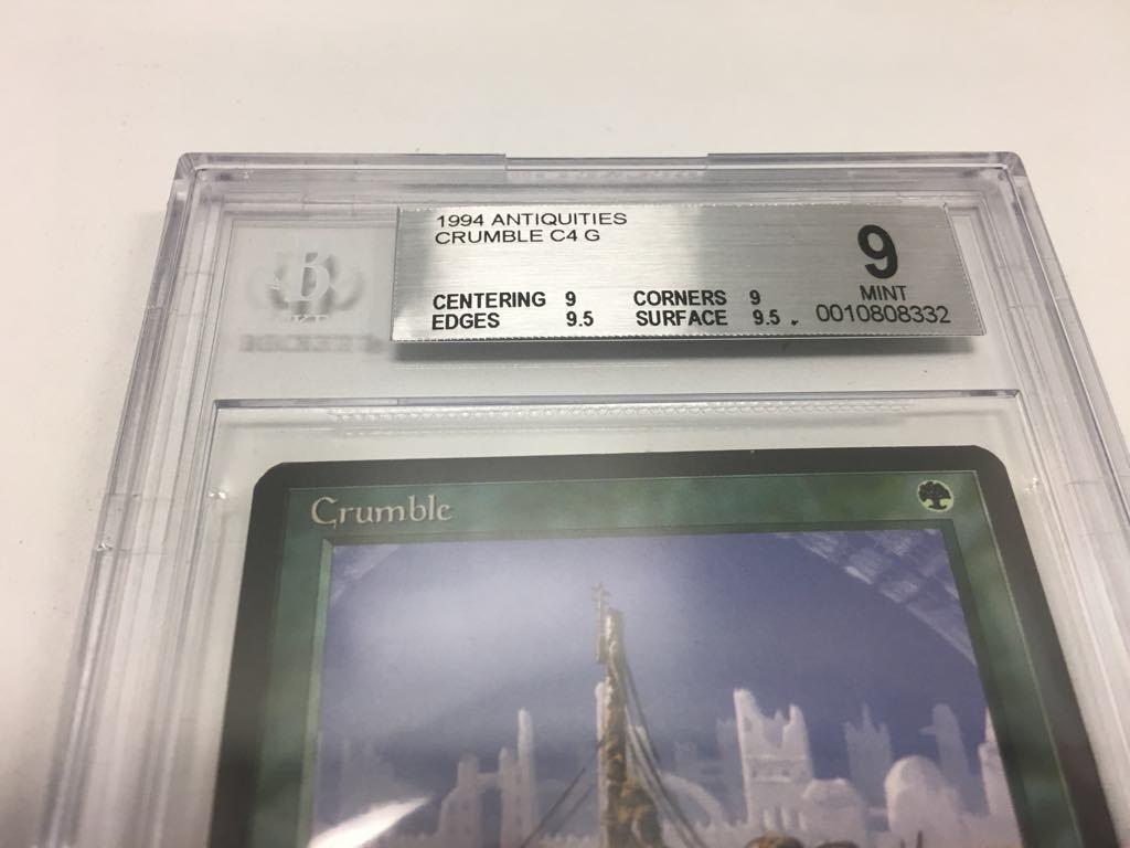 BGS 9 Antiquities Crumble Crumble Crumble 9, 9, 9.5, 9.5 Subs Mtg Magic b4c1e7