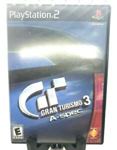 Gran Turismo 3 A-spec PlayStation 2 PS2 Black Label Complete Game, Case, Manual