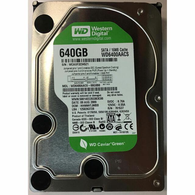 Western Digital 640GB, 7200RPM, SATA - WD6400AACS-00G8B0