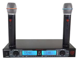 Rockville-RWM2602UR-UHF-Dual-Rechargeable-Microphones-pour-eglise-Sound-Systems