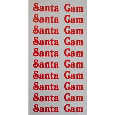 10 x Santa Cam Stickers Decals Text Only Make your Own Santa Cam For Christmas