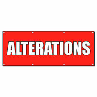 Alterations Promotion Business Sign Banner 4' X 2' W/ 4 Grommets