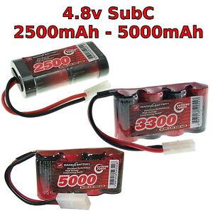 4.8V 2500-5000mAh SubC SC Premium Racing RC NiMh battery pack + custom connector