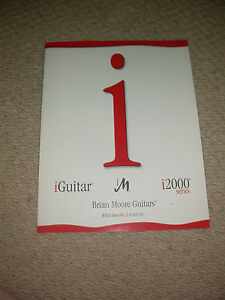 Brian Moore Guitares 2002 Catalogue Shred Guitar Collector Custom Studio Display-afficher Le Titre D'origine Dans La Douleur