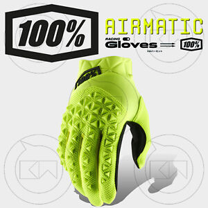 GUANTI-100-AIRMATIC-MX-FLUO-YELLOW-BLACK-ADULTO-MOTOCROSS-ENDURO-OFF-ROAD-MTB