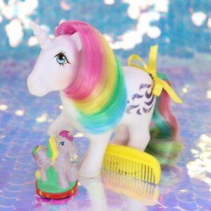 Vintage-My-Little-Pony-WINDY-Rainbow-Unicorn-STAMPOS-Rubber-Stamp-G1-MLP-BO325