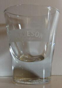 1.5 oz Round Bottom Heavy Jameson Irish Whiskey Shot Glass Round Top