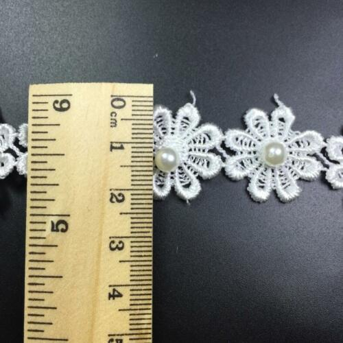 DIY 5 Yards Flowers lace Beading Wedding crafts Sewing decoration Accessories