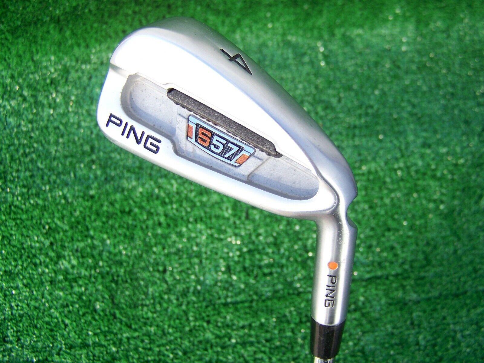 Ping Golf S57 4 Iron Orange Color Code DG Steel Stiff Flex Shaft Right Hand