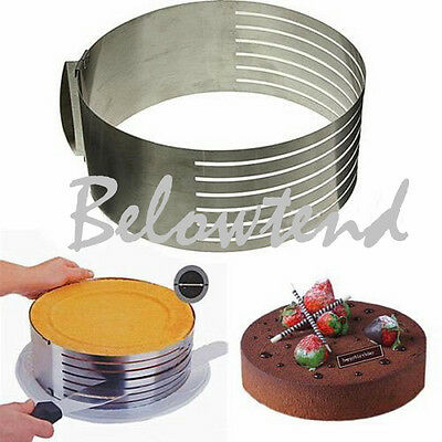 Stainless Layer Cake Slicing Kit Slice Slicer Cutter Tool DIY Pie Kitchen