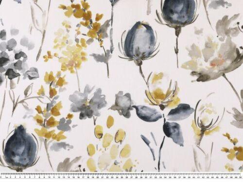Blumendruck digital Popeline weiß-blaugrau 150cm