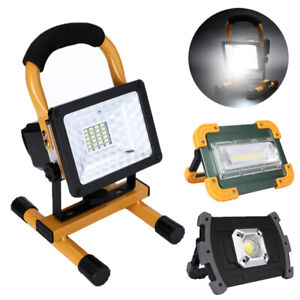 100W Solar LED COB Work Light USB Rechargeable Flood Lamp Outdoor Camping Light