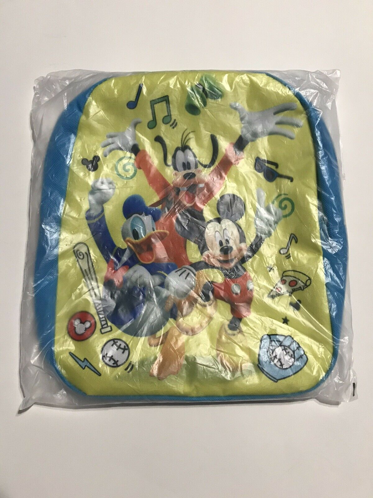 """Backpack 11/"""" Mickey Donald Goofy Clubhouse Lenticular Blue NWT"""