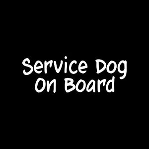 SERVICE-DOG-ON-BOARD-Sticker-car-window-Vinyl-Decal-pet-therapy-training-puppy