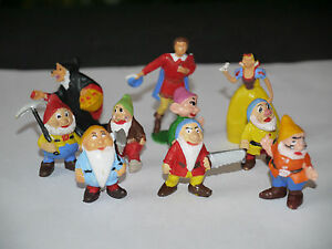 10 figurines Jim Walt Disney Série complète Blanche Neige Petite Taille