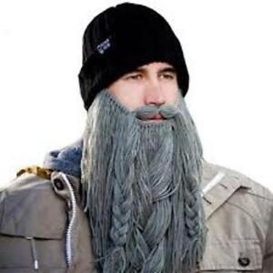b16527e0486 Image is loading Barbarian-Roadie-Beard-Head-Long-Plaited-Grey-Knitted-