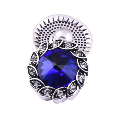 Hot 3D Crystal Chunk Charm Snap Button Fit For Noosa Necklace//Bracelet NSKZ214