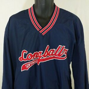 Longballz Softball Windbreaker Jacket Pullover Crewneck Fleece ...