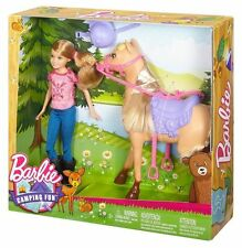 Barbie CAMPING FUN Stacie Sister Doll & Horse  DYX18   3+