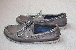 Leeward Sperry Top Siders Leather Gray