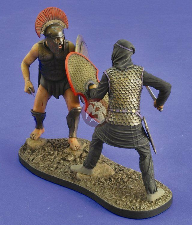 Verlinden 120mm (1 16)  The 300  Spartan & Persian Warriors Vignette w Base 2466