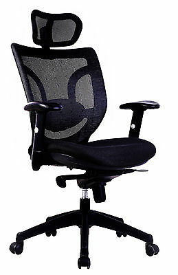 Newton Mesh High Back Executive Office Chair with Headrest by Eliza Tinsley