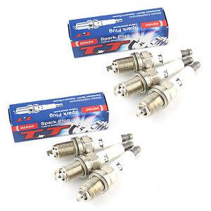 4x fiat punto 1.2 60 origine denso twin tip tt spark plugs