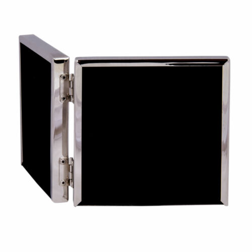 Cadre photo carré argent3 variantes S M Double Cadre-métal verre