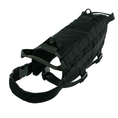K9 Tactical Dog Harness Nylon Training Military Patrol Service Dog Vest w//Handle