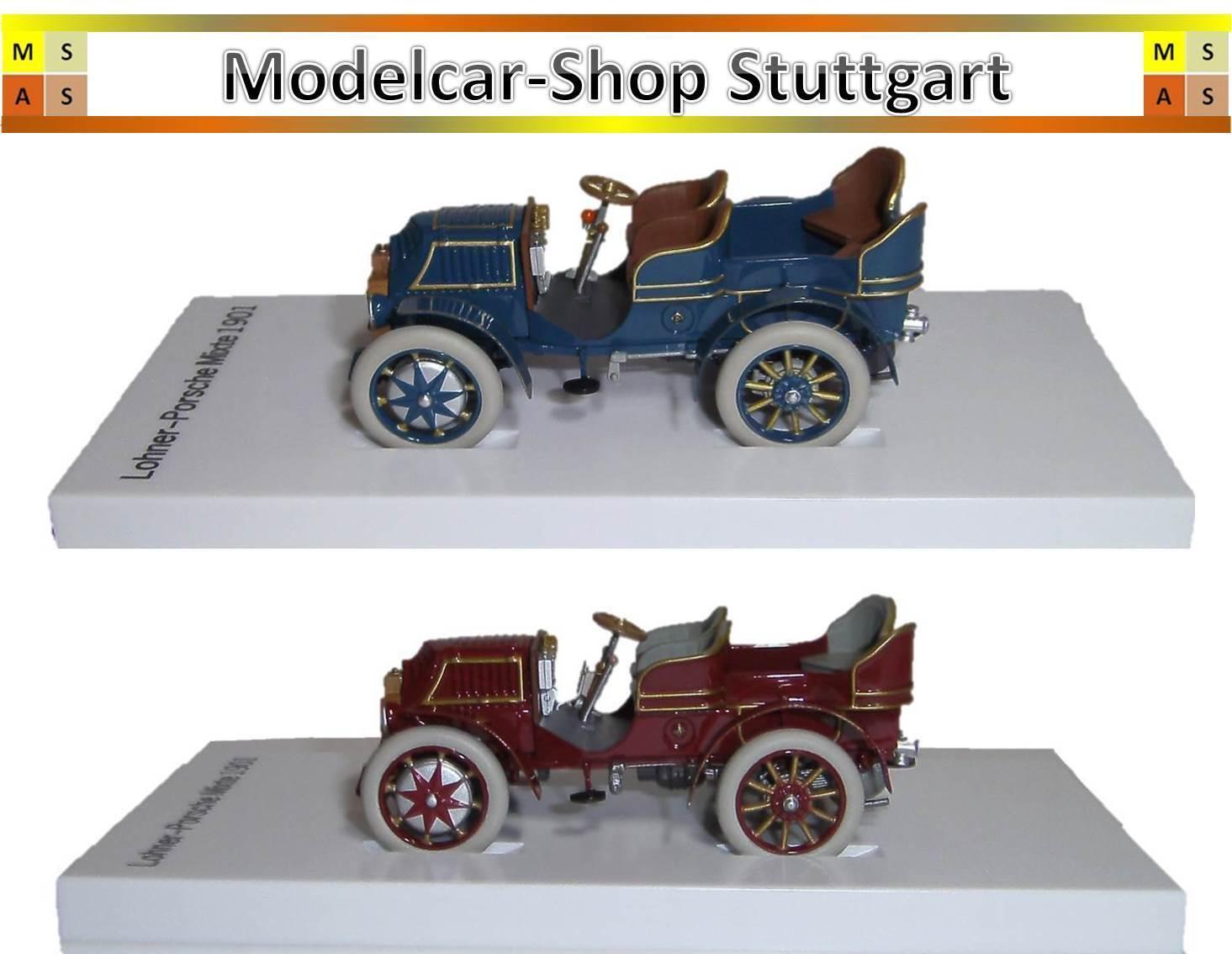 Porsche Museum exclusive  Lohner-Porsche Mixte 1901 blau u. rotbraun - neu & ovp