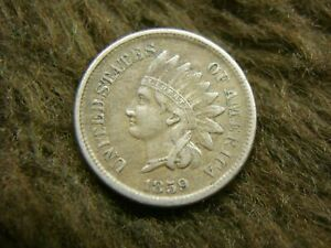 1859-UNITED-STATES-COPPER-NICKEL-INDIAN-HEAD-CENT-FIRST-OF-THE-SERIES