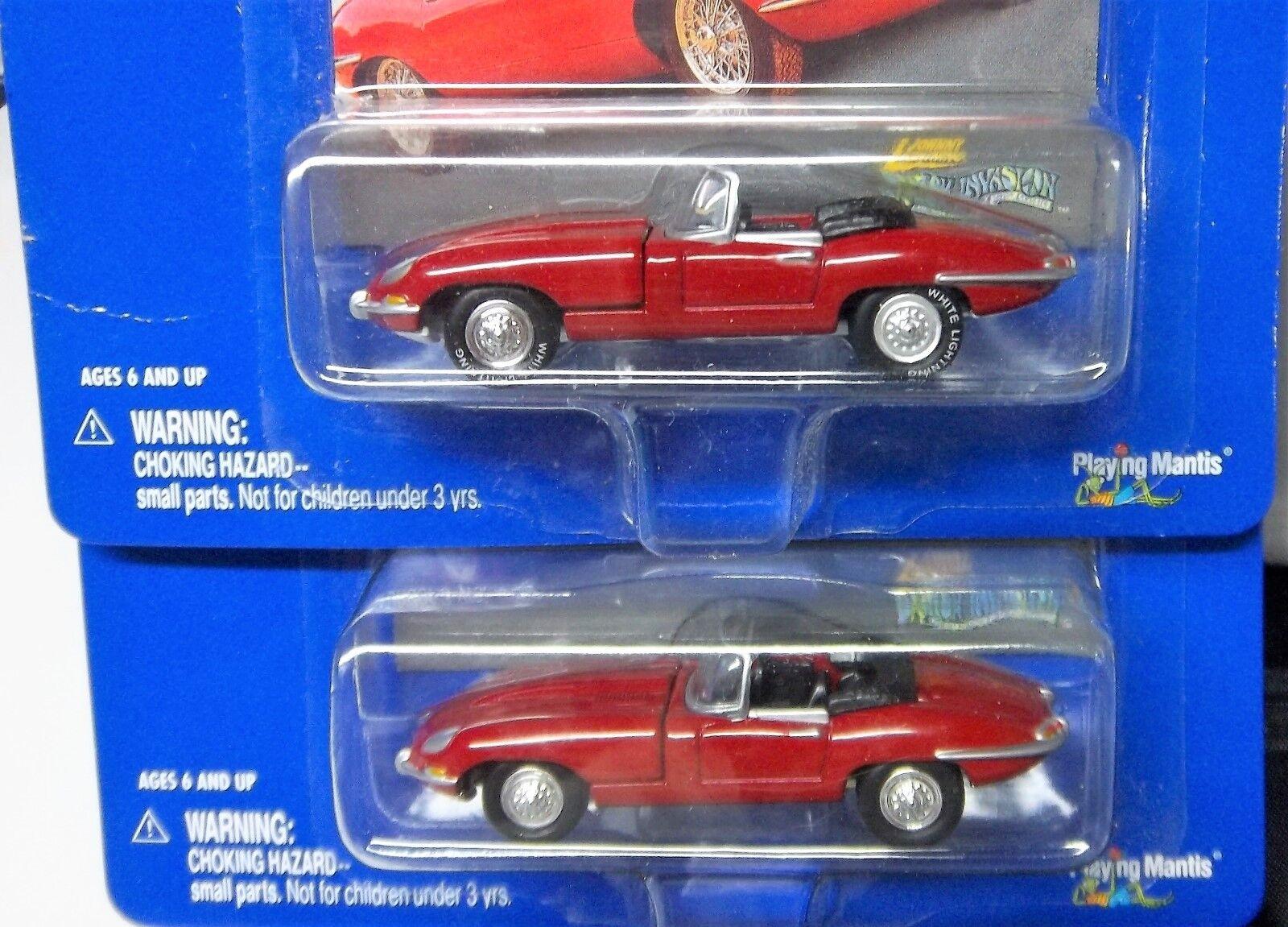 2 JAGUAR 62 RED XKE JOHNNY LIGHTNING 1 WHITE LIGHTNING 1 NORMAL 1962 XKE JAGUAR
