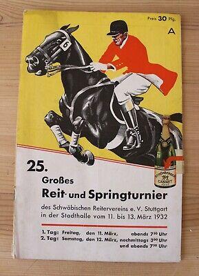 - Programma 25. Grande Scuderie E Spring Torneo Di Stoccarda, Dal 11. Al 13. Marzo 1932-