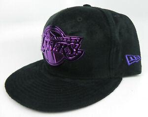 LOS ANGELES LAKERS NBA NEW ERA 9FIFTY SNAPBACK PURPLE METAL BADGE HAT CAP NWT!