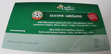 VIP Ticket for collectors EURO 2012 q * Bulgaria - Switzerland 2011 in Sofia