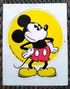 Rare-Vintage-1970s-Walt-Disney-World-Productions-Mickey-Mouse-Sticker