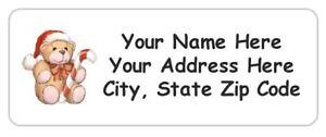 30 personalized christmas bear address labels 1 x 2 625 free usa