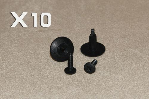 SUBARU 6-7MM Screw Fit in Rivet Plastic Trim Clips