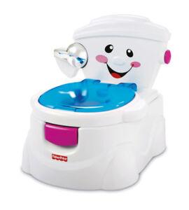 Bebe-Pot-de-Garcon-Fille-Musical-Toilette-Siege-Fisher-Price-Mon-Ami